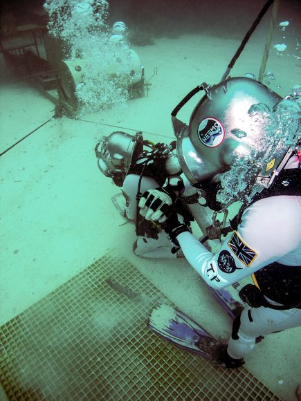 ESA astronaut Timothy Peake trains for the NEEMO 16 underwater mission. Credit: NASA