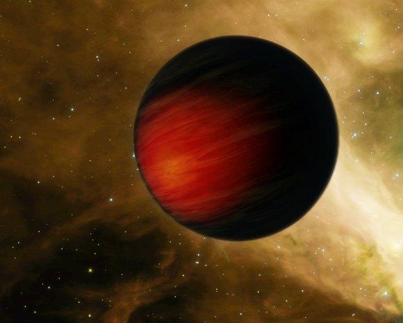 """Artist's concept of """"hot Jupiter"""" exoplanet HD 149026b (NASA/JPL-Caltech)"""