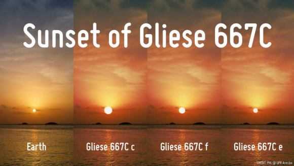 Nearby star Gliese 667C might have three potentially habitable planets. Credit: Planetary Habitability Laboratory, University of Puerto Rico Arecibo.