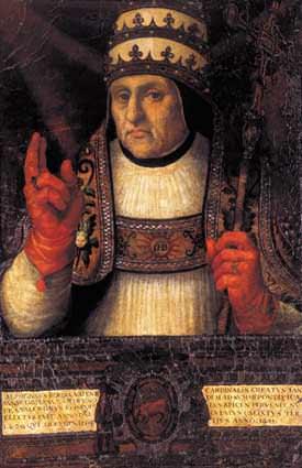 Pope Callixtus III: the ecommunicator of comets? (Credit:  Museo de la Catherdral de Valencia).