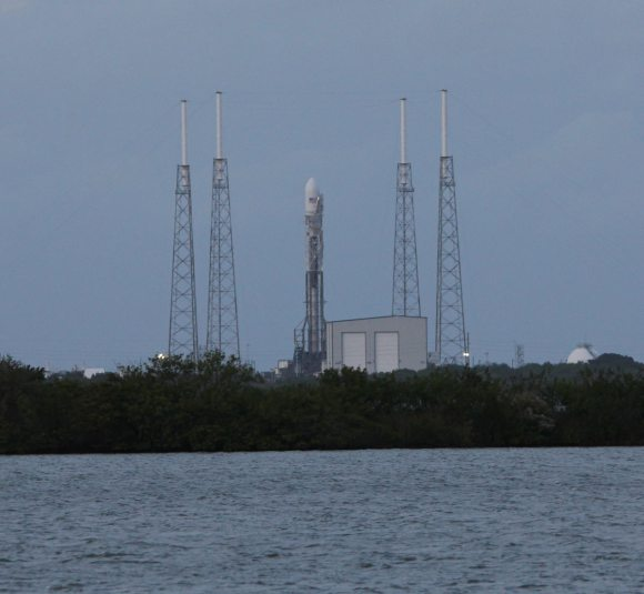 Next Generation SpaceX Falcon 9 rocket with SES-8 communications satellite awaits launch from Pad 40 at Cape Canaveral, FL. Credit: Ken Kremer/kenkremer.com
