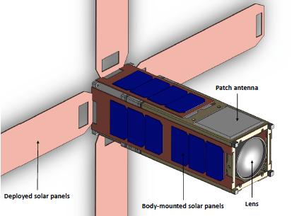 The current design of ExoplanetSat. Image Credit: Pong et al. 2010