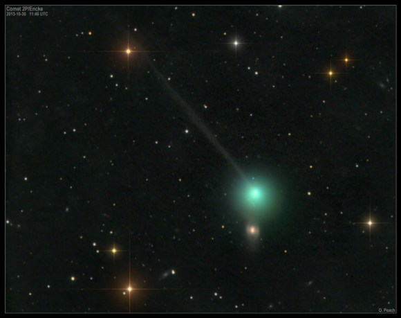 Comet 2P/Encke on October 30, 2013. The coma is p