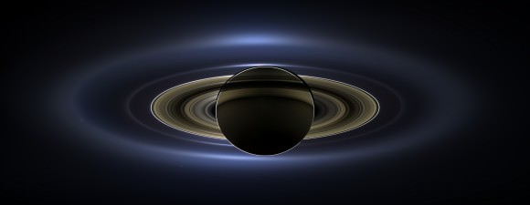 "The full mosaic from the Cassini imaging team of Saturn on July 19, 2013… the ""Day the Earth Smiled"""