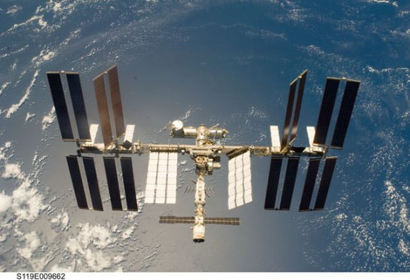 The International Space Station as seen from the crew of STS-119. Credit: NASA