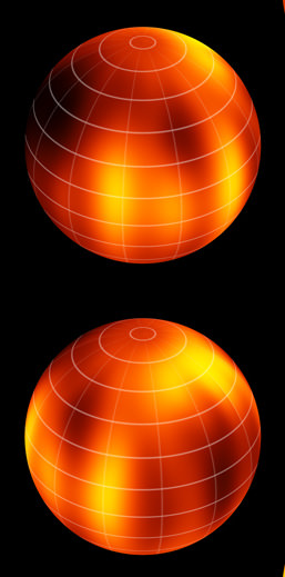 Two views of the first brown dwarf map