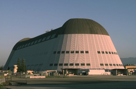 A 1999 image of Hangar 1 taken in Moffett Field, Calif. Credit: NASA Ames Research Center