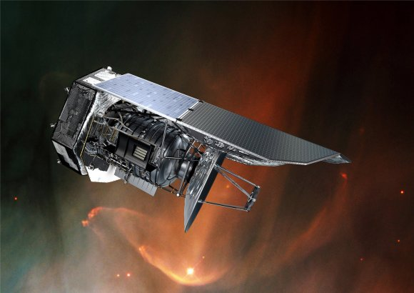 Artist's impression of the Herschel Space Observatory. Credit: ESA/AOES Medialab/NASA/ESA/STScI