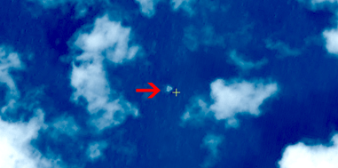 Satellite image of suspected floating objects from the missing Malaysia Airlines plane MH 370.   Credit: China SASTIND/China Resources Satellite Application Center