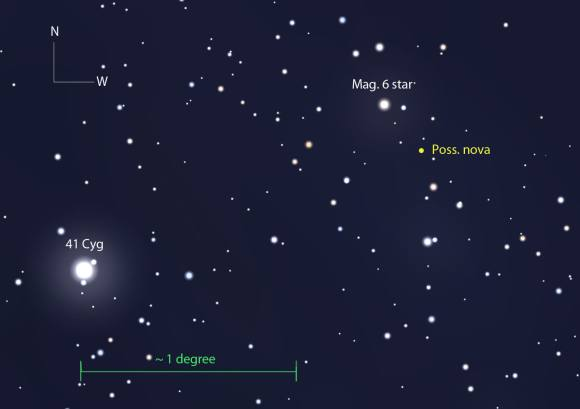 This more detailed map, showing stars to mag. 10.5, will help you pinpoint the star. Stellarium