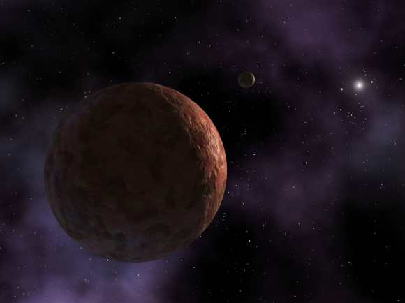 Artist's conception of Sedna, a dwarf planet in the solar system that only gets within 76 astronomical units (Earth-sun distances) of our sun. Credit: NASA/JPL-Caltech