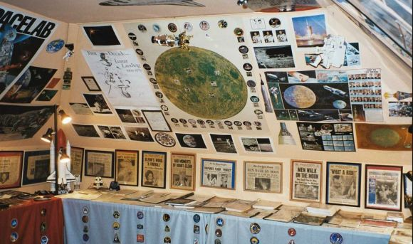 Part of the vast set of space memorabilia of Joe Lennox, a private collector based in the New York City area. Credit: Joe Lennox