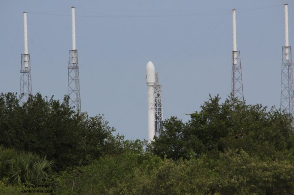 SpaceX Falcon 9 rocket is set for liftoff, Friday, June 20, 2014  on ORBCOMM OG2 mission with six OG2 satellites from Pad 40 on Cape Canaveral, FL. Credit: Ken Kremer/kenkremer.com