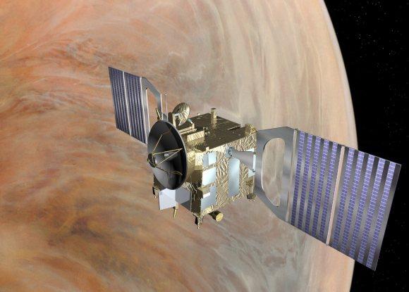Artist's concept of Venus Express. Credit: ESA