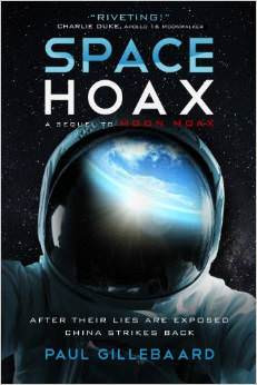 "The cover of the new book ""Space Hoax"" by Paul Gillebaard."