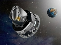 Illustration of the ESA Planck Telescope in Earth orbit (Credit: ESA)