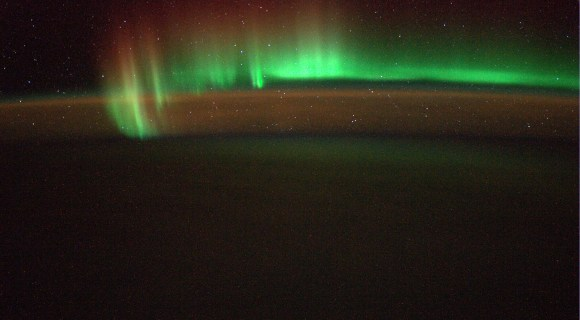 """Another new snapshot of Earth's """"beautiful Southern Lights""""  taken from the ISS on 5 July 2014. Credit: ESA/Alexander Gerst"""