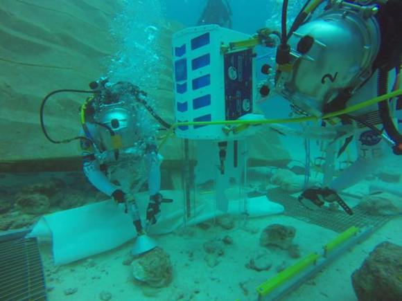 Two unidentified divers participating in a past NASA Extreme Environment Mission Operations (NEEMO) increment. Credit: NEEMO/Facebook