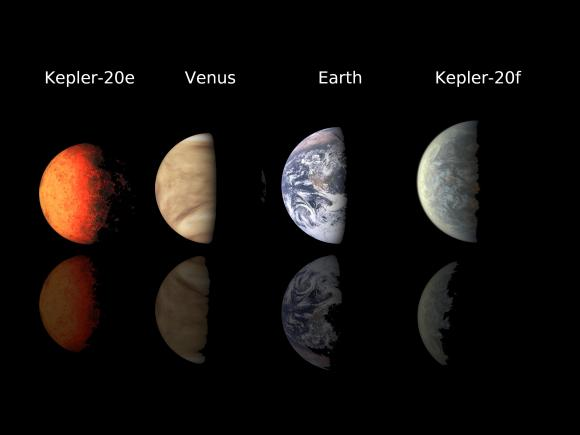 An array of Earth-like planets. Image Credit: NASA