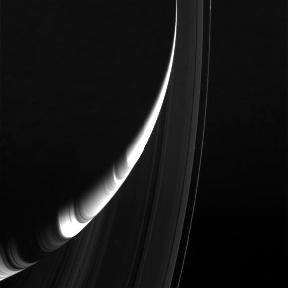 Sunlight and shadow combine in this photo of Saturn and its rings taken Aug. 19, 2014. Credit: NASA/JPL/Space Science Institute