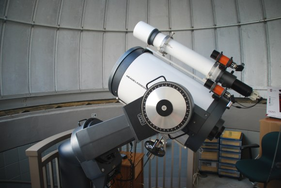 Seen at the James and Barbara Moore Observatory in Punta Gorda, Florida: a scope worthy of a quasar hunt. Photo by author.