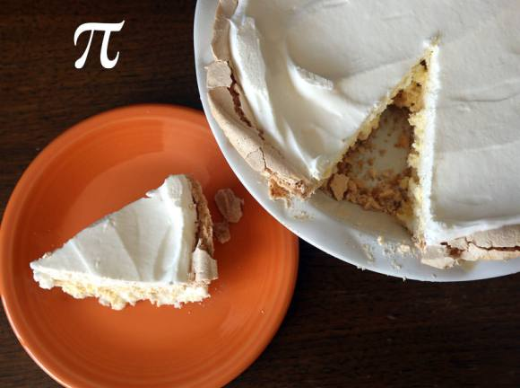 A lovely lemon angel meringue pie in honor of Pi Day. Who knew math could make you hungry? Credit: Bob King