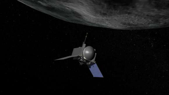 Artist concept of OSIRIS-REx, the first U.S. mission to return samples from an asteroid to Earth. Credit: NASA/Goddard