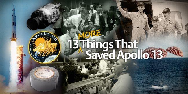 Apollo 13 images via NASA. Montage by Judy Schmidt.