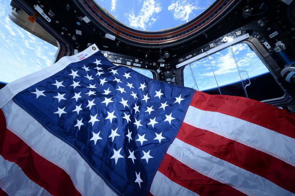 NASA astronaut Scott Kelly salutes all past and present US Veterans from the International Space Station on Veteran's Day Nov. 11, 2015. Credit: NASA/Scott Kelly
