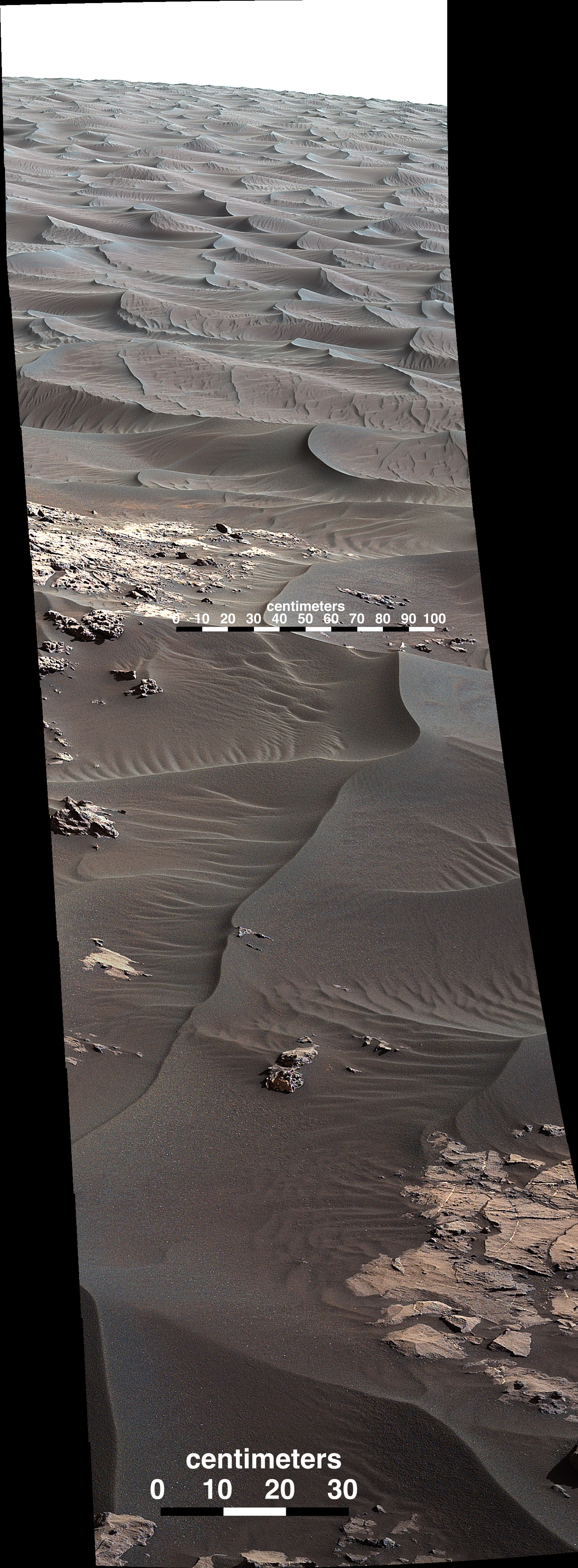 Curiosity Took This Amazing Picture Of Bagnold Dunes On
