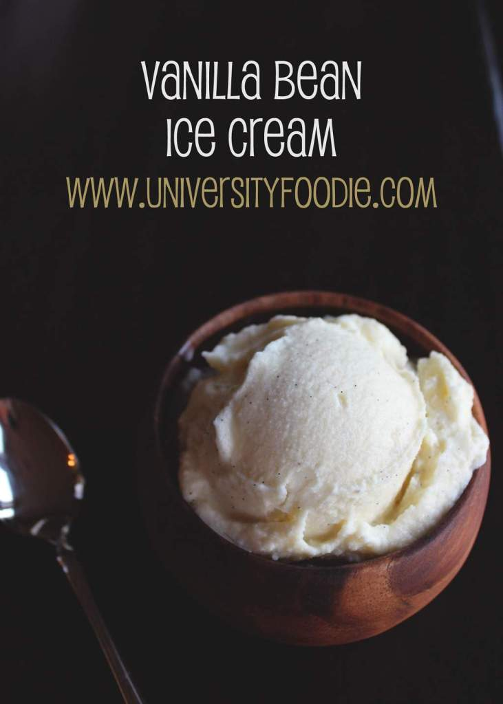 Vanilla Bean Ice Cream | www.universityfoodie.com