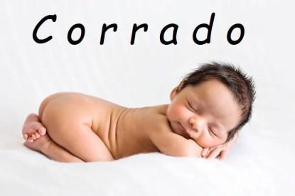 Neonato con nome Corrado