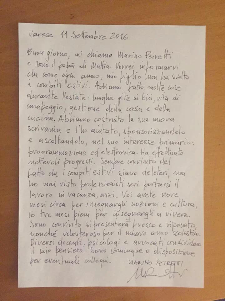 lettera agli insegnanti