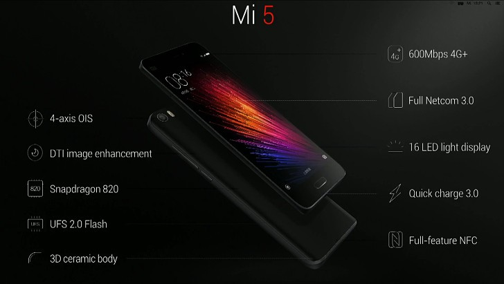 Mi 5 specification