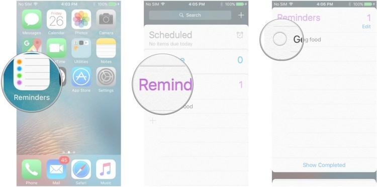 كيفية مسح رسائل التذكير على iOS