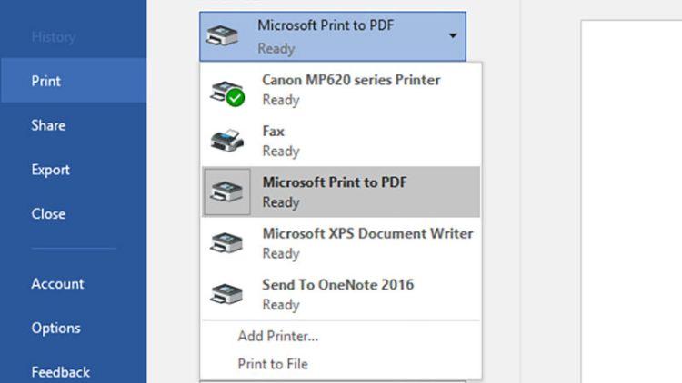 Windows-10- Print to PDF