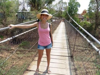 Puente colgante en Battambang