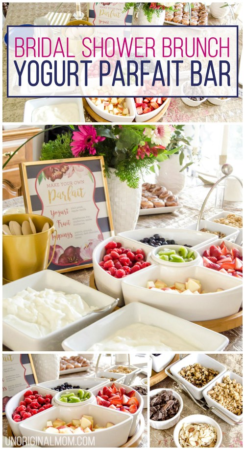 Grande I Love This Super Easy Shower Brunch Idea A Yogurt Parfait Brunch Bridal Shower Brunch Yogurt Parfait Bar Unoriginal Mom Bridal Shower Food Options Bridal Shower Food Table