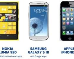 Nokia compara su servicio de mapas con iOS6 y Android