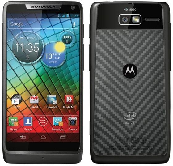 Motorola Razr i con procesador Intel Atom a 2.0GHz