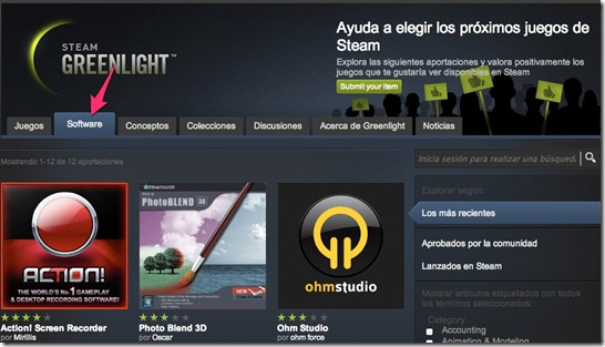 Steam Greenlight for software - unpocogeek.com