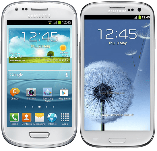galaxy s3 mini vs galaxy s3 regular size - unpocogeek.com