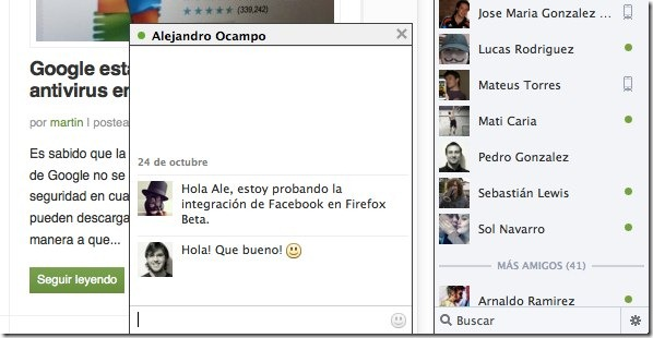 mozilla firefox facebook chat integration - unpocogeek.com