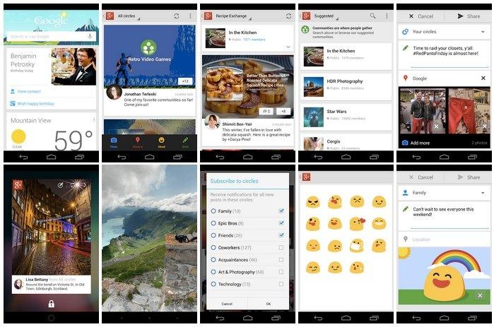 Nueva actualización de Google+ para iOS y Android