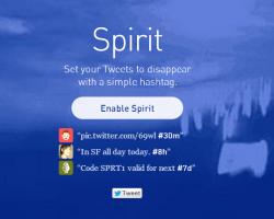 Spirit, ponele temporizador de destrucción a tus tweets