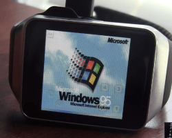 Windows 95 corriendo en un Smartwatch