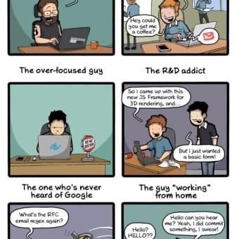 [humor] Tipos de desarrolladores