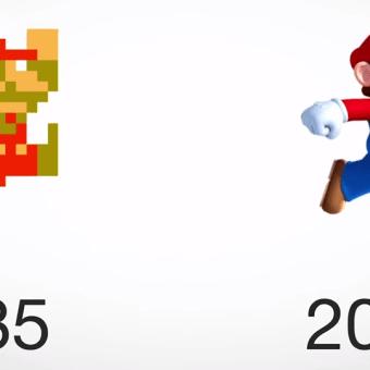 Personajes de videojuegos, antes y ahora…