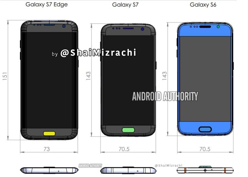 Filtrados posible diseños y características de los Galaxy S7 y S7 edge