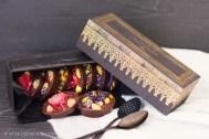 Chocolatinas de frutas y flores